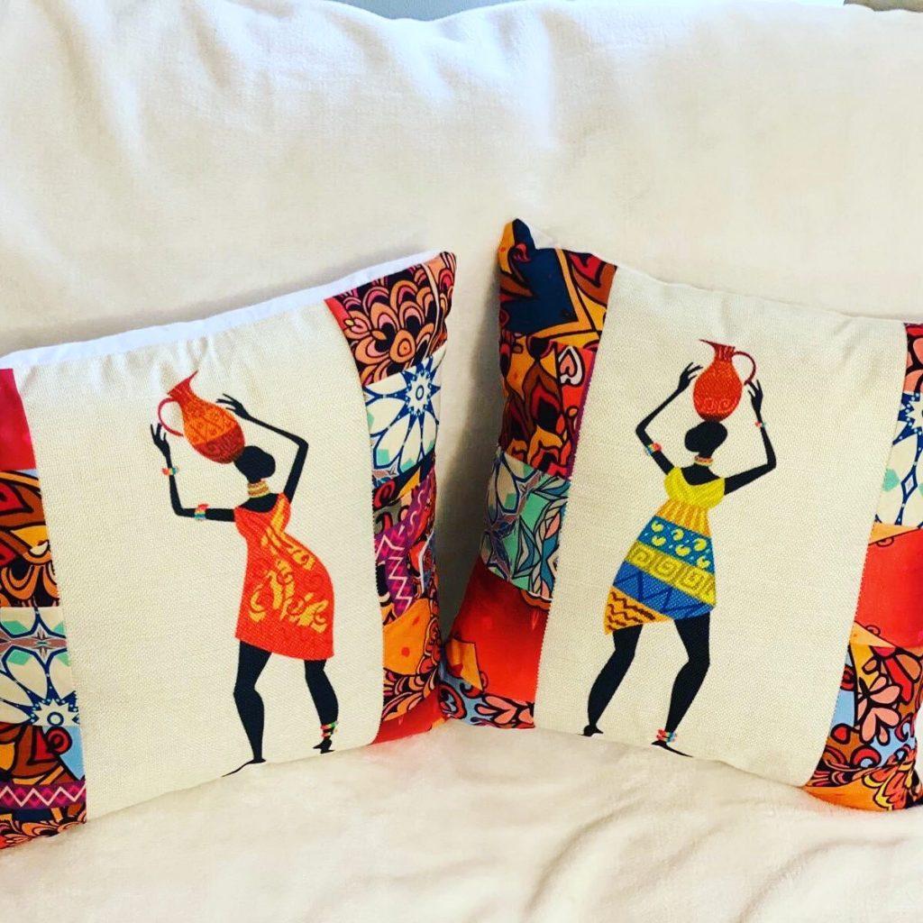 African inspired mandala print