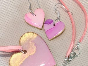Light pink and gold heart