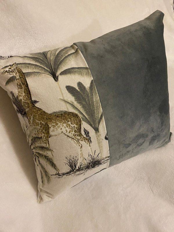animal print and plush velvet grey