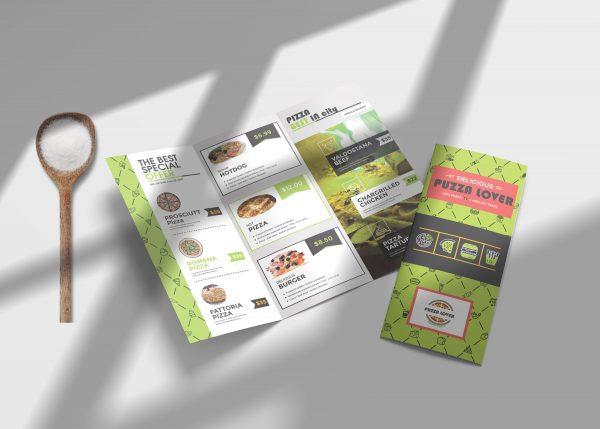 Green Veggie Tri Fold Menu PSD Template4 scaled