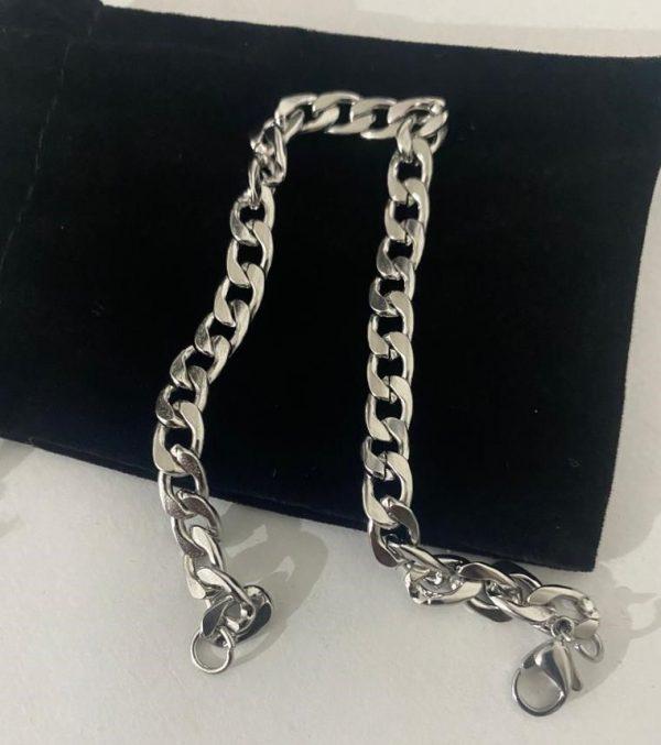 Stainless Steel Round Curb Bracelet Chain Bracelet
