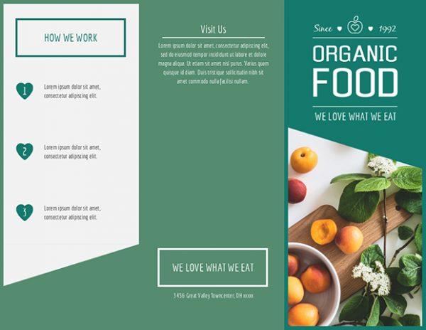i Organic Food Trifold Brochure thumb 1