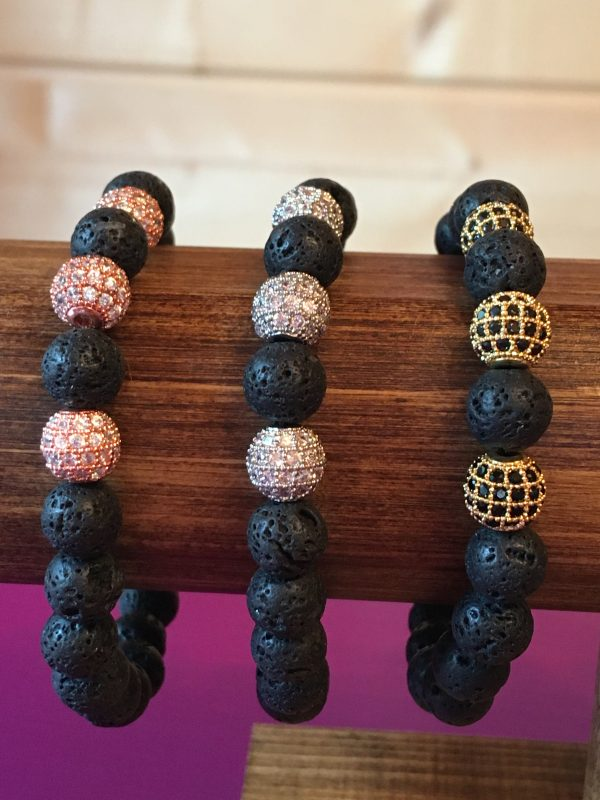 Lave bead bracelet