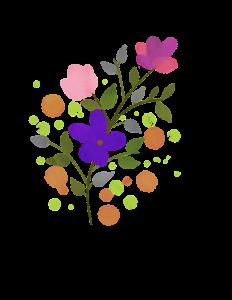 flower, watercolor, spring